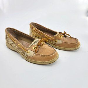 Sperry Top Sider Angelfish Gold Glitter Boat Shoe